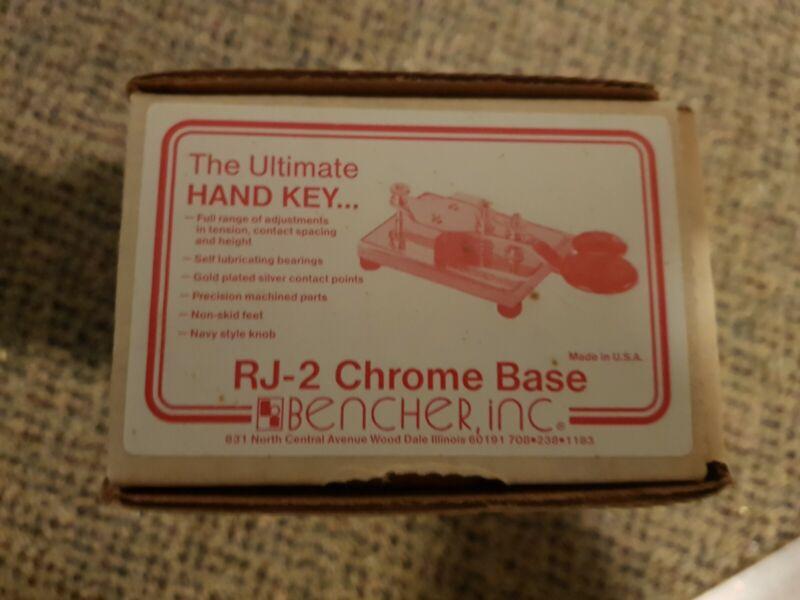 Bencher RJ-2 Chrome Base Ham Radio Straight key, NIB