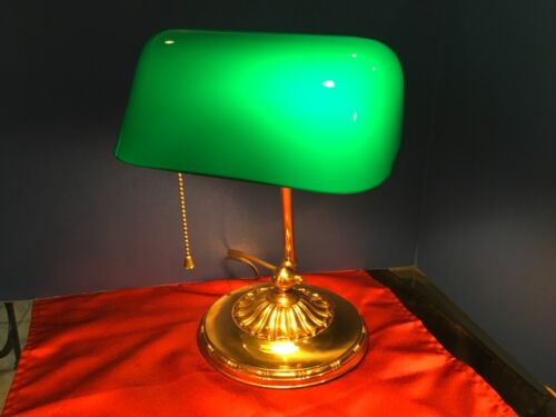 Emeralite Desk / Bankers Lamp HG McFaddin Co 8734 with Green Shade