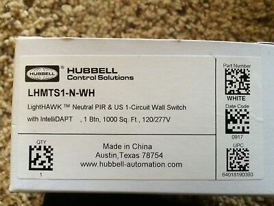 Lhmts1-n-wh Lighthawk Neutral Pir Us 1-circuit Wall Switch Wintellidapt