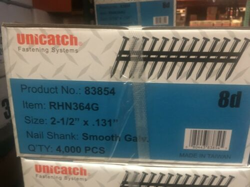 "2-1/2"" x .131 GALV, Smooth 21` Framing Nails 4000/Case Hitachi,DeWalt,Senco"
