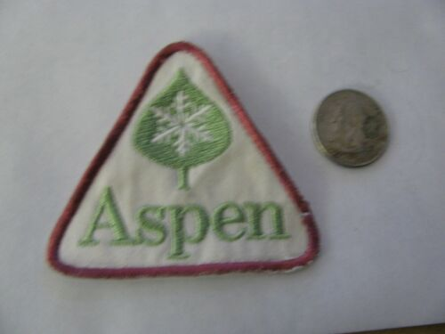 VINTAGE  SKI PATCH  ASPEN COLORADO  RESORT EMBROIDERED  FREE SHIPPING REDUCED