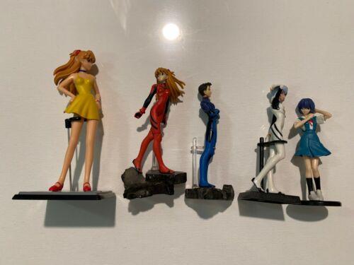 Lot of 5 Evangelion Gashapon Figure Rei Ayanami Asuka Langley Toji Suzuhara