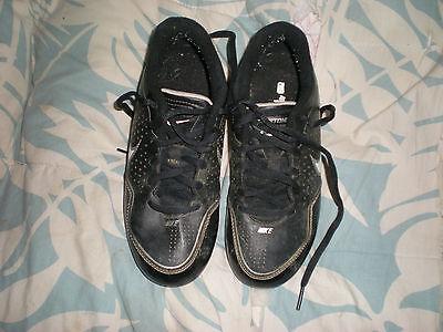 Boy's Nike Keystone Baseball Cleats Black Gray and White size 2.5