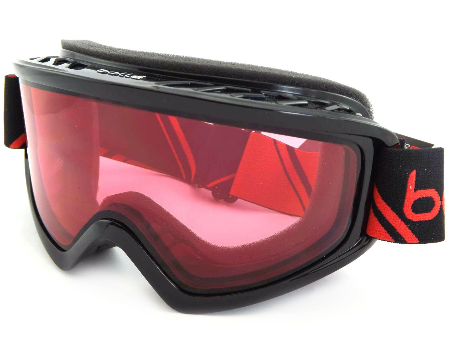 da5838ee83 Details about Bolle Freeze Ski Snowboarding Goggles Shiny Black Red /  Vermillion CAT.2 21491