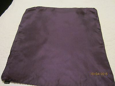 100% Silk Plum Colored Pocket  Square  16 Inch X 16 Inch
