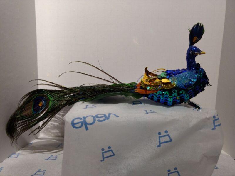 Peacock Clip Ornament