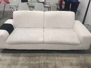 3 seater and 1.5 seater white sofa Revesby Heights Bankstown Area Preview