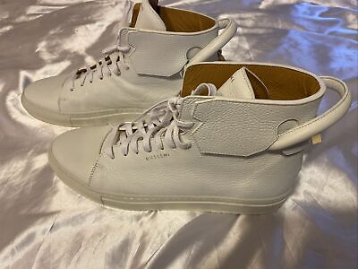 Buscemi Mens 125MM White High Top Sneakers US 13