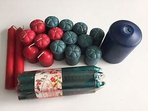 Assorted candles. All except blue on have never been used