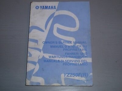 Used, YAMAHA YZ250F (R) WORKSHOP MANUAL, PART # 5UL-28199-30 for sale  Shipping to South Africa