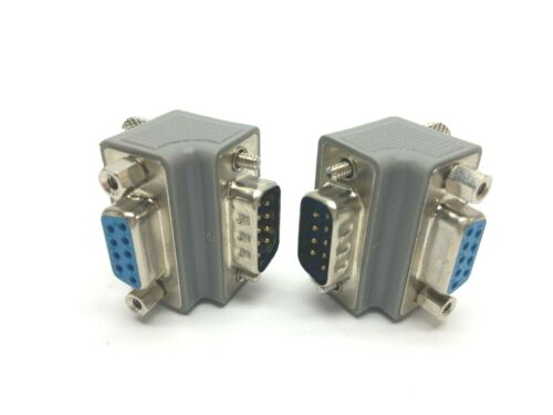 L-Com DG909MF1 9 D Sub Right Angle Adapter Male to Female Lot of 2