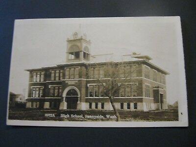 Early Real Photo High School Sunnyside WA Washington RPPC