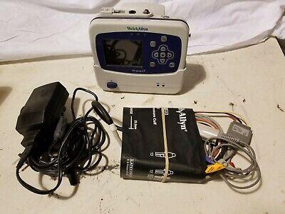 Welch Allyn Propaq Lt Vital Signs Monitor Emt W Cradle Power Supply Cords Spo2