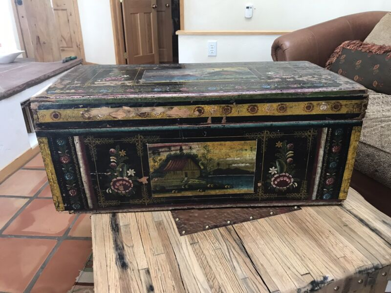 Antique or Vintage Mexican Olinala chest
