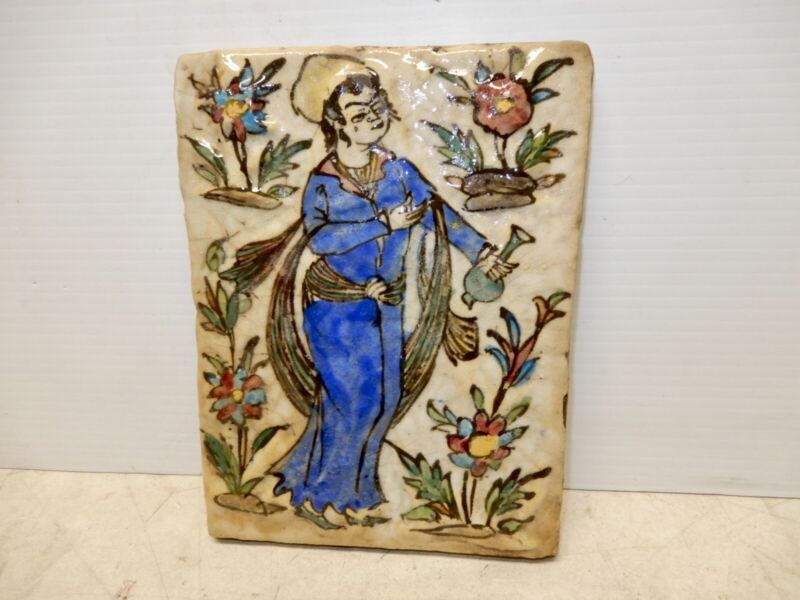 ANTIQUE PERSIAN EMBOSSED WALL TILE CIRCA 1860