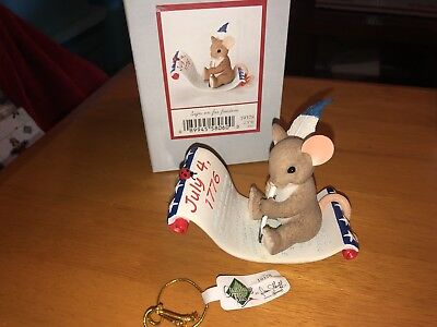 """Charming Tails """"SIGN ON FOR FREEDOM""""  DEAN GRIFF NIB INDEPENDENCE DAY"""