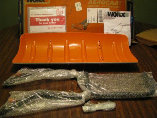 NEW IN BOX Orange Aerocart Snow Plow Attachment - Worx