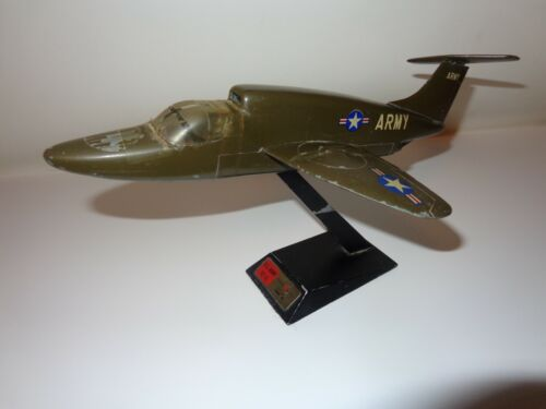 1961 US Army VZ-11 Jet Airplane Desk Display Model Extremely Rare Heavy Alum.