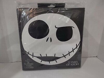 The Nightmare Before Christmas 12 Days of Socks New NBX Sealed Jack Sally