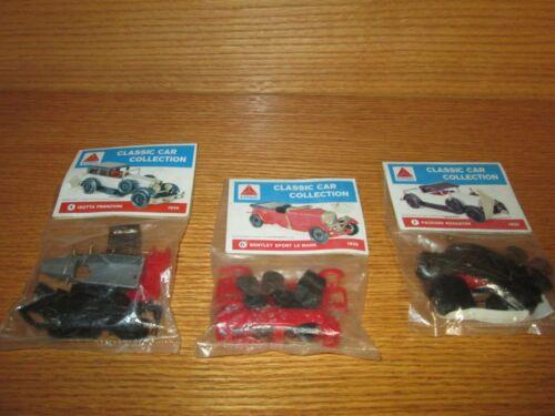 Lot of 3 CITGO CLASSIC CAR COLLECTION KITS KIT SET #1 #4 #6