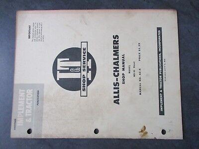 Allis Chalmers Wd45 Diesel Shop Manual