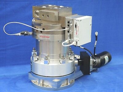 Pfeiffer Tph 521 Pc Turbomolecular Pump Meivac Throttle Hva Gatevalve Set