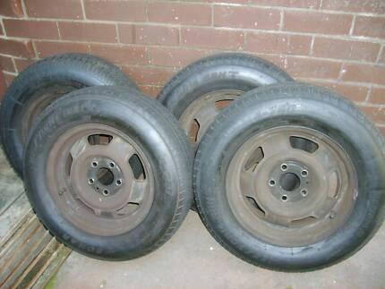 "4 Steel Wheels 14"" Ex-Volvo 240 Suit Volvo/Torana/Holden/Trailer"