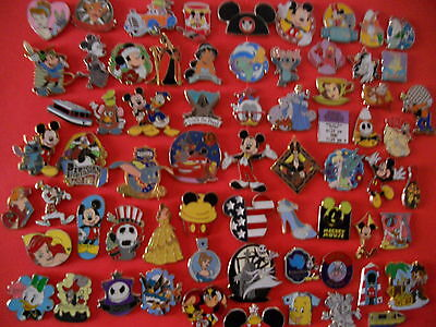 "50 Disney Trading Pins Lot No Duplicates ""Fast Shipping"" Hidden Mickey's on Rummage"