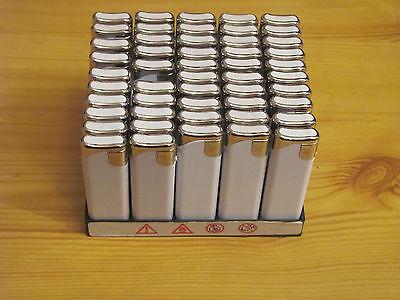 50 Stück Feuerzeuge flach Elektrozündung mit einfarbigen Werbeaufdruck