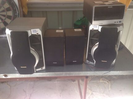 Cheap CD player and speakers with remote. Loganholme Logan Area Preview