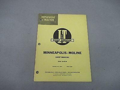 Minneapolis-moline It Shop Service Manual  Gbubzb Manual No. Mm-6