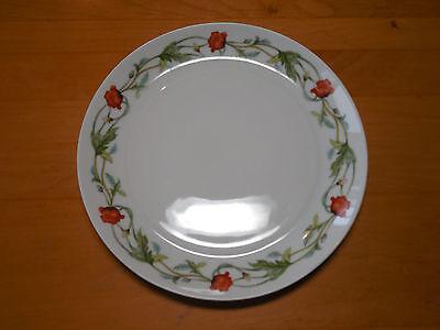 Block Spain SEGOVIA Set of 4 Salad Plates 8 in Coupe Orange Floral