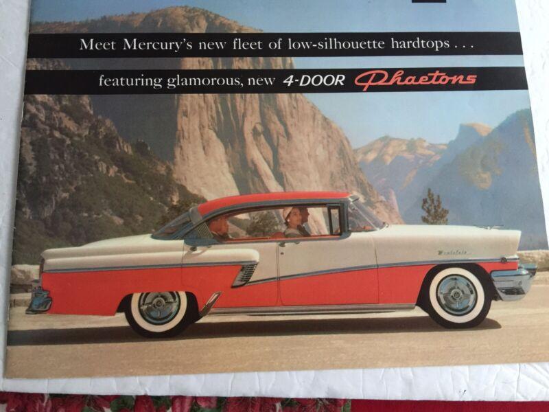 Vintage 1956 Mercury Auto Brochure