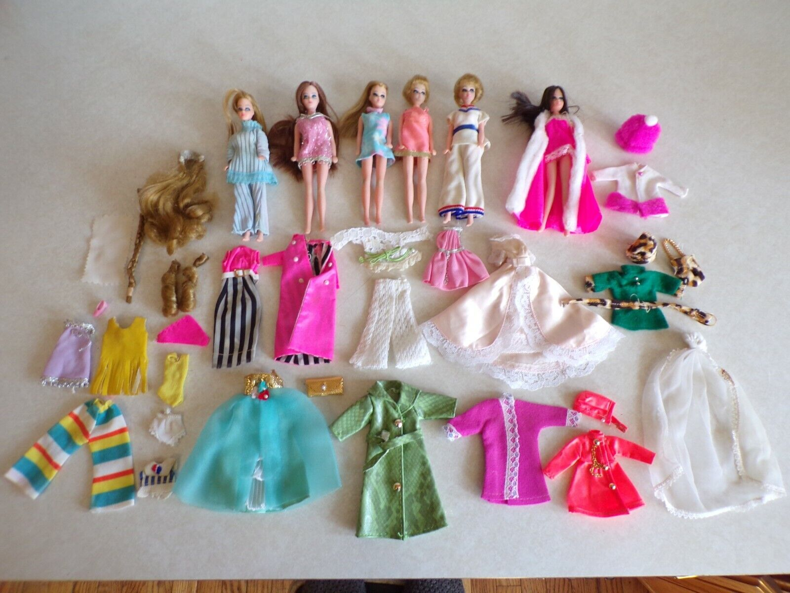 Vintage Lot DAWN TOPPER DOLLS Friends Clothes And Accessories B  - $180.00