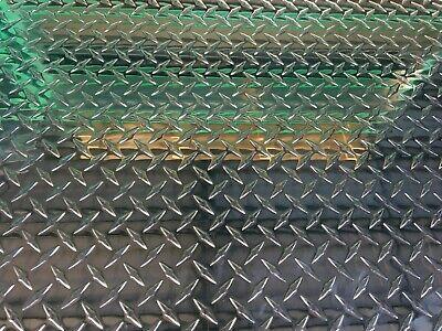 Aluminum Diamond Tread Plate Sheet 16 Gauge 12x48 Polished Sheet Kick Floor