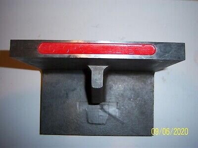 Hardened Cast Iron Ground Angle Plate. Size 6x5x58. Condition Used.