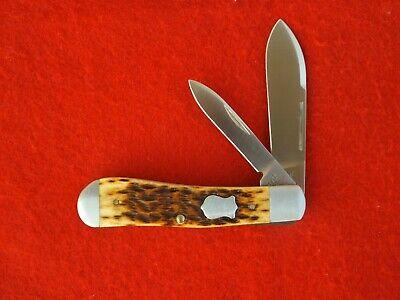 Case XX Tony Bose Antique Bone ATS34 Dog Leg Jack Knife
