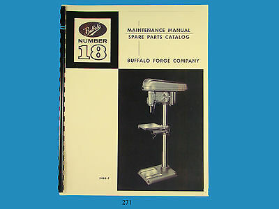 Buffalo Forge No. 18 Drill Press Maintenance Spare Parts Manual 271