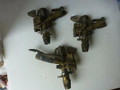 3 Vintage Champ 260 Brass Impact lawn Sprinkler Nozzle Highly Adjustable