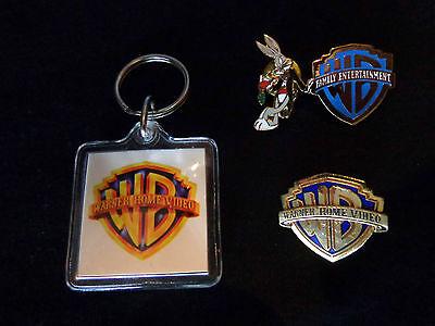 Bugs Bunny Warner Brothers. Pin, WB Logo Pin, & WB Key Chain...NEW