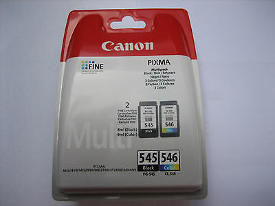ORIGINAL Multipack black color CANON PG-545 + CL-546 MG-2550-2450-2950