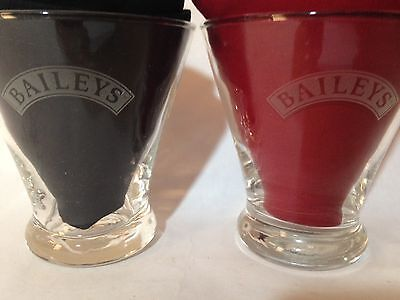 TWO 2 Baileys Irish Cream Liqueur Drinking Cocktail Glasses Tumblers PARTY!