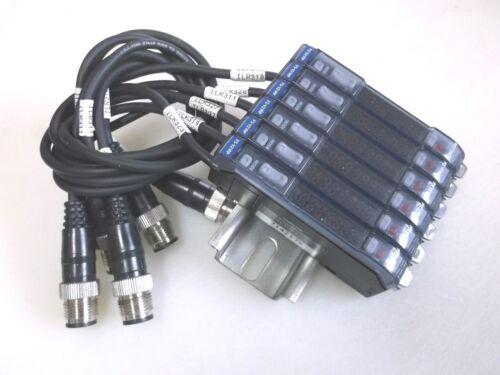 Keyence FS-V21RP Sensor Amplifier Cluster (Set of 6 Amplifiers)