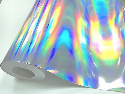 "12"" X 4'ft - Silver Holographic Craft & Hobby Cutting Vinyl Film"