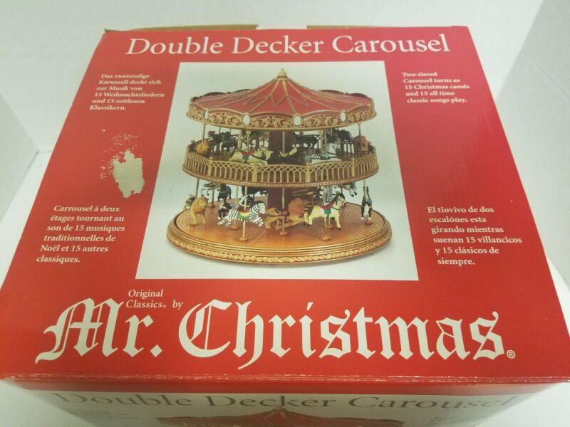 Mr. Christmas Double Decker Carousel  C4