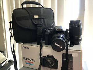 Canon EOS 600D camera with double lenses (18-55 & 55-250)&matching bag