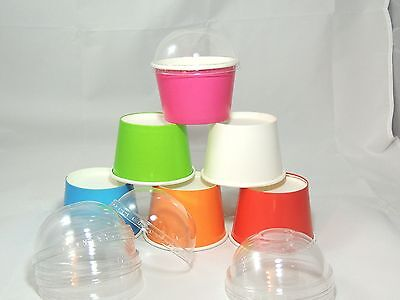 20 Fun Party Cups, 8oz Colored Ice cream cups, Yogurt cups, Cold cups, Cute cups