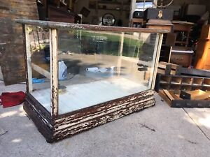 Antique Smaller Size Store Front Cabinet