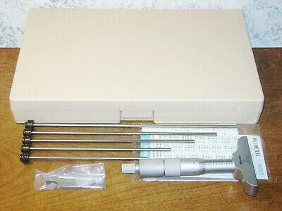 Mitutoyo 0-6 Inch Depth Micrometer Set No 129-128 W Case - Super Clean