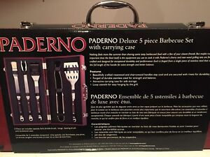 NEW PADERNO BBQ SET + CASE **GREAT GIFT I